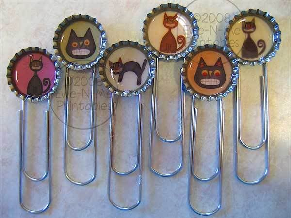 Bottle Cap Bookmarks. Save some bottle caps with your favorite patterns and star to make these bookmarkets for your friends as gifts. Check out the step-by-step tutorial