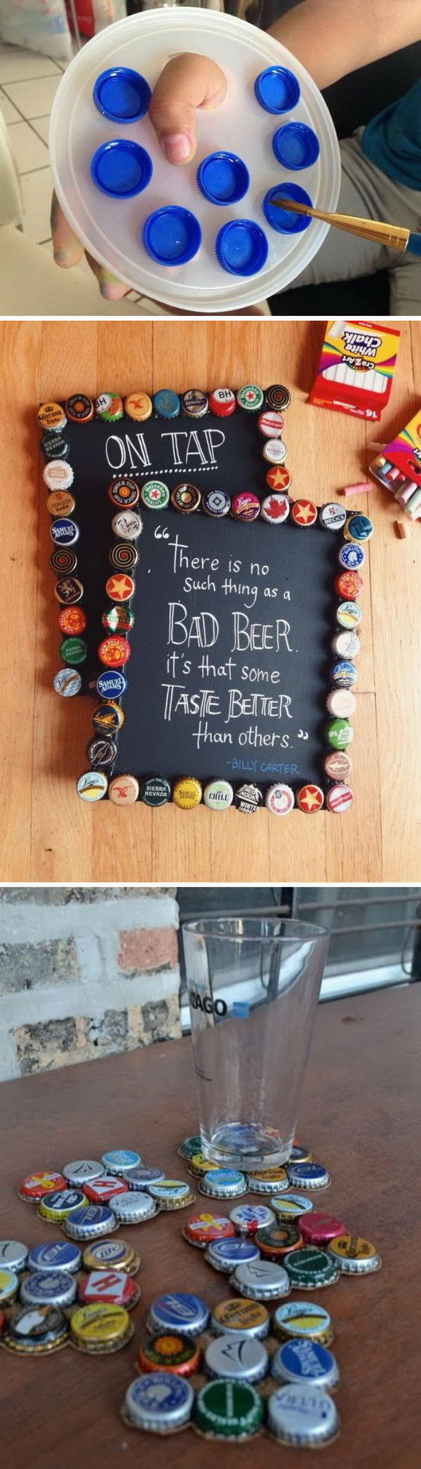 25 Awesome Ideas Tutorials To Craft With Bottle Caps 2019