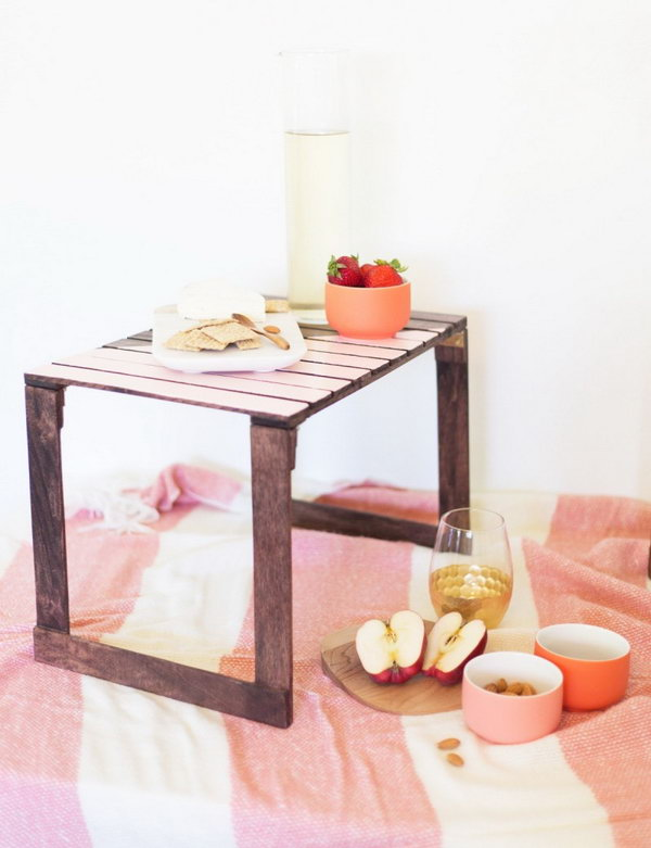 DIY Mini Picnic Tables. Get the tutorial