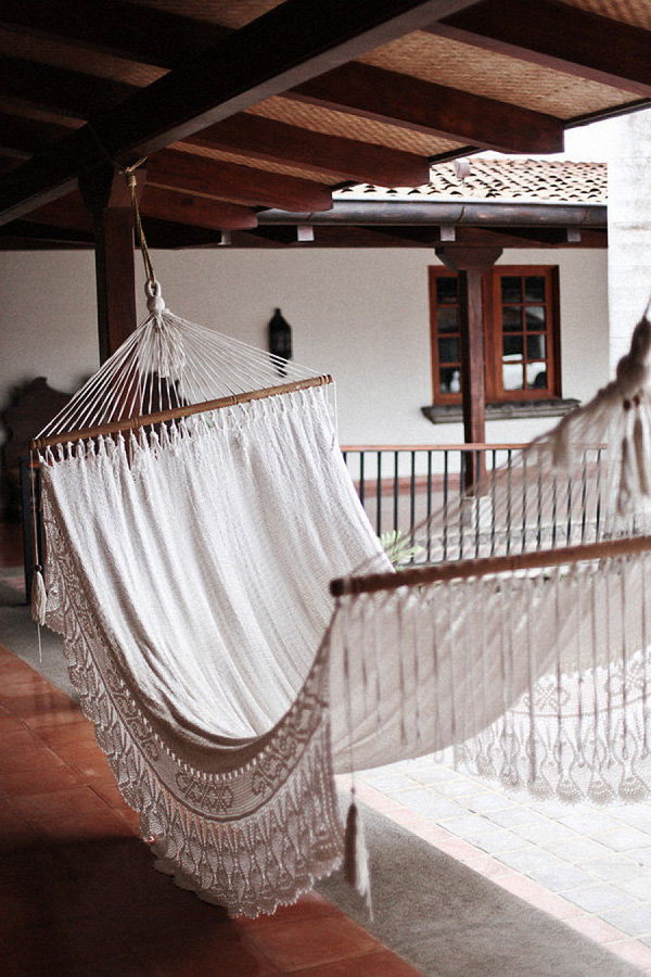 Homemade Hammock. See the tutorial