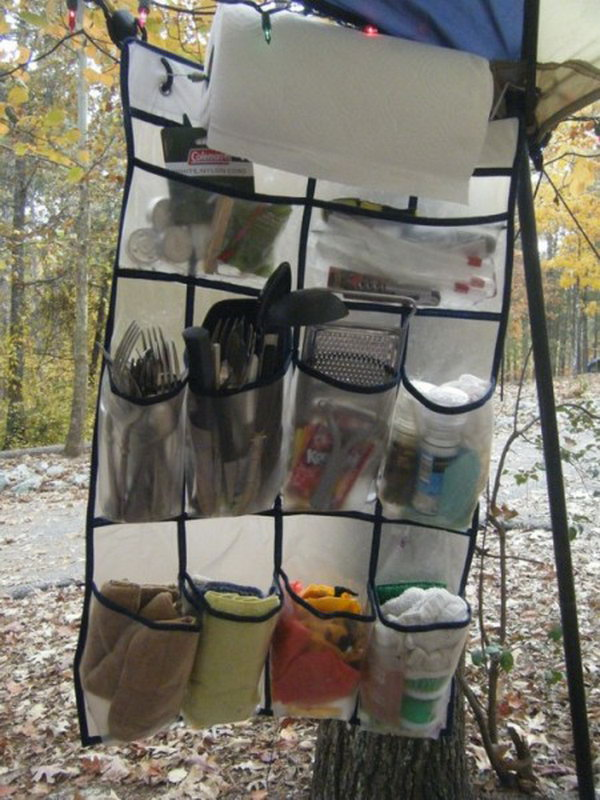 Brilliant Camp Kitchen Organizer. Get the tutorial