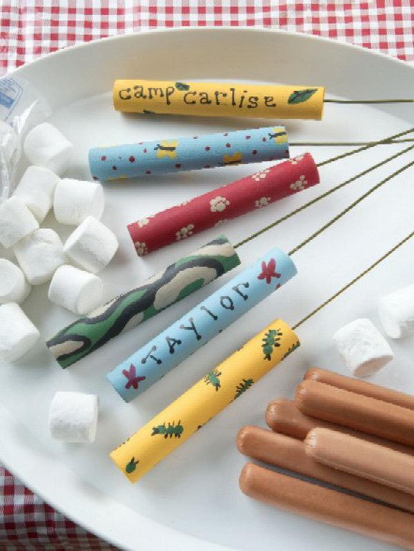 DIY Camp Roasting Sticks.