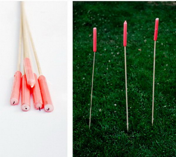 Easy Outdoor Candle Stakes. Get the steps