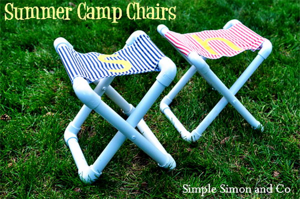 DIY Summer Camp PVC Chair. Get the tutorial