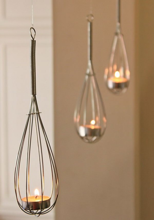 Wire Whisk Candle Holders.