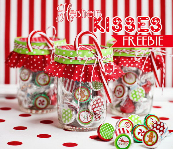 Christmas Hershey's Kiss Gift Idea. - 20+ Sweet Candy Gift Ideas 2018