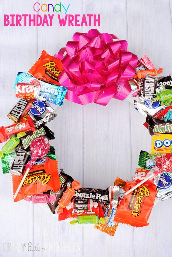 Candy Birthday Wreath.
