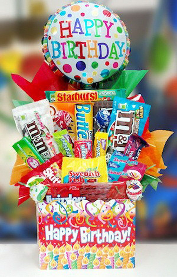 Birthday Bash Candy Basket.