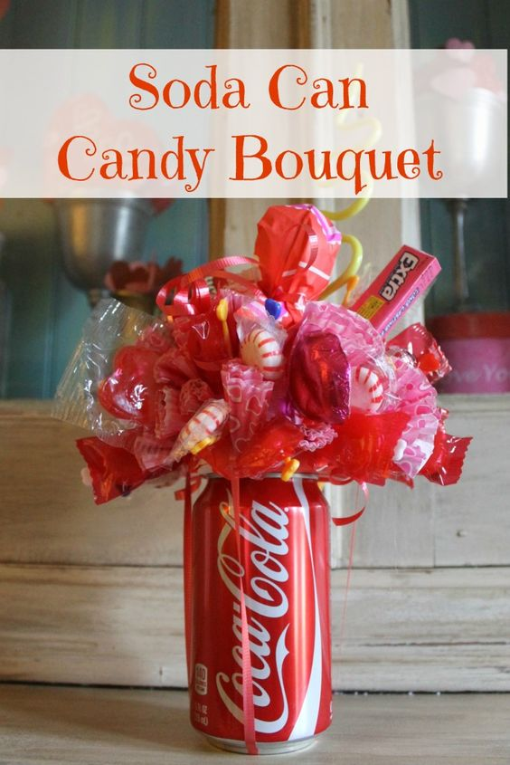 Soda Can Candy Bouquet.