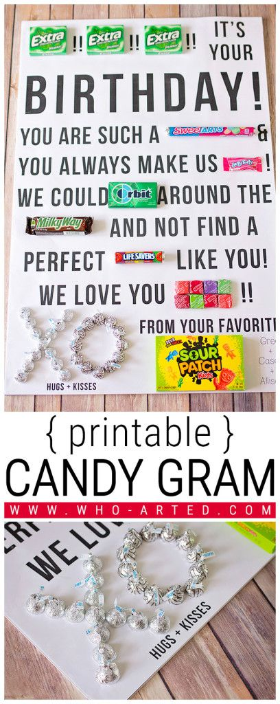 20 sweet candy gift ideas 2017 candy gram birthday card solutioingenieria Gallery