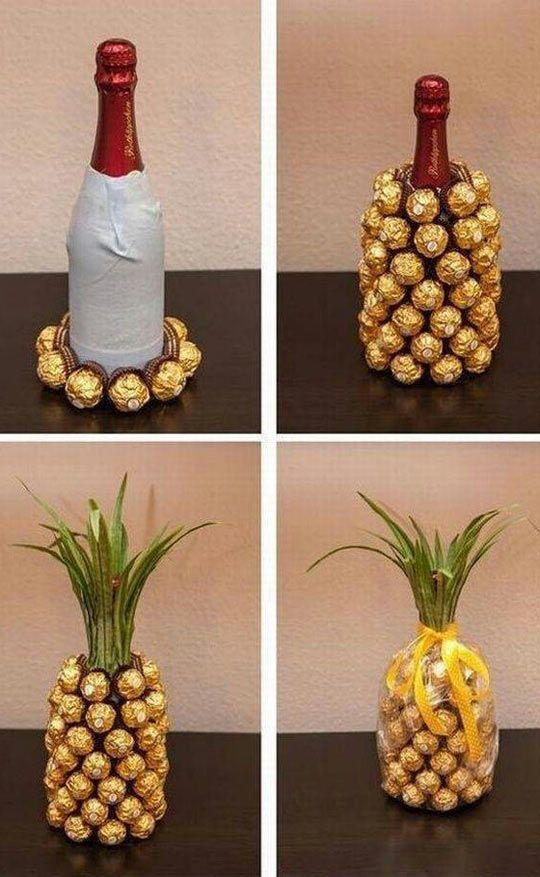Champagne Chocolate Pineapple Present.