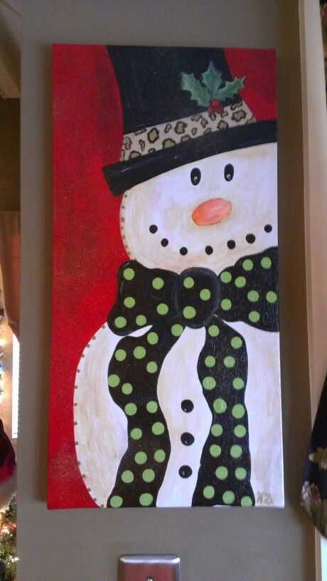 25 Amazing Canvas Painting Ideas For Christmas 2017