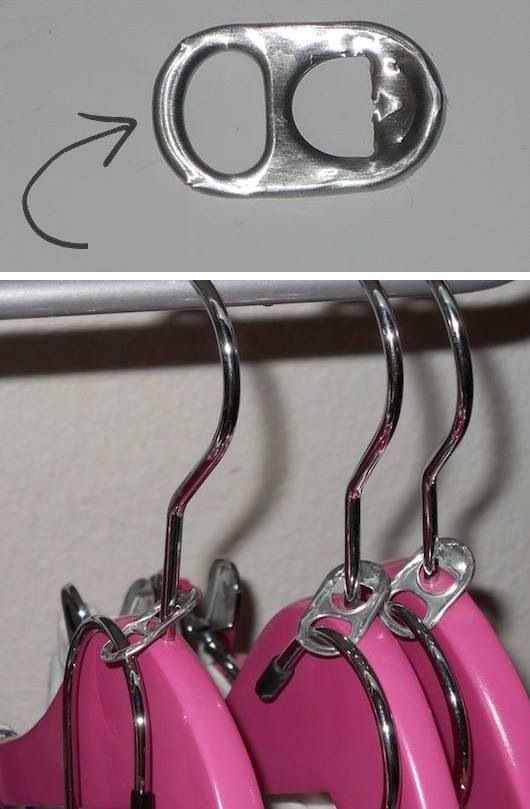 DIY Double Clothes Hangers Made Out Of Can Tabs..