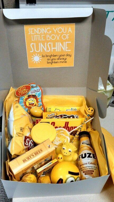 Send a Box of Sunshine to Brighten someone's day.
