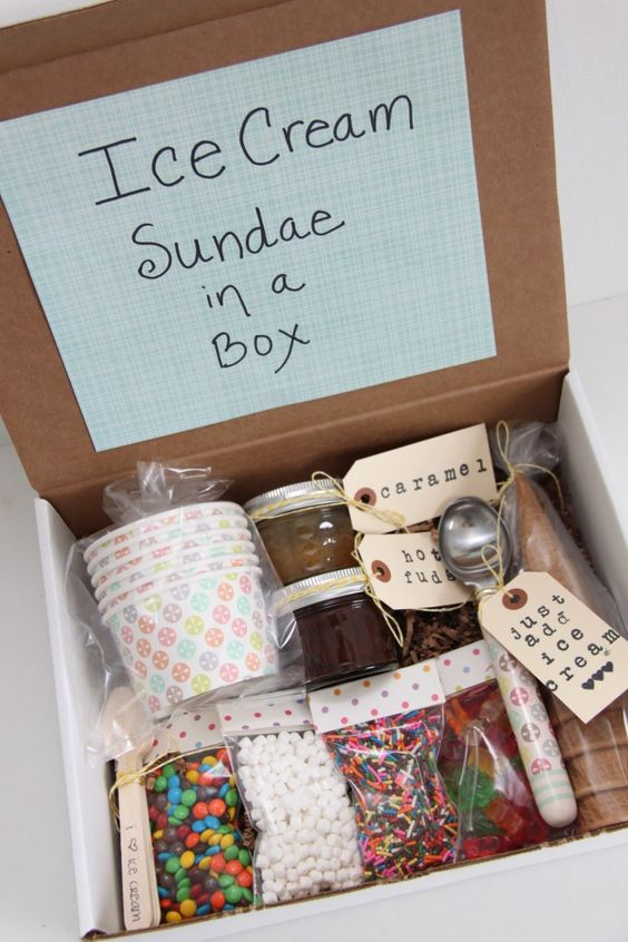 Ice Cream Sundae in a Box.