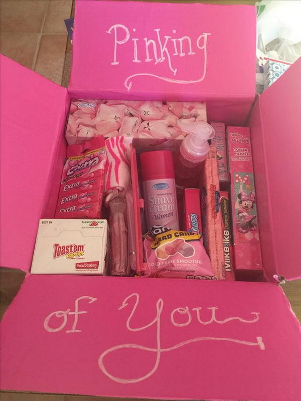 Pinking Of You Care Package For Girls.