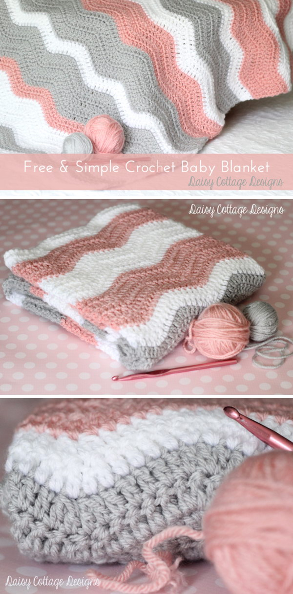30 Beautiful Crochet Blankets With Free Patterns 2018