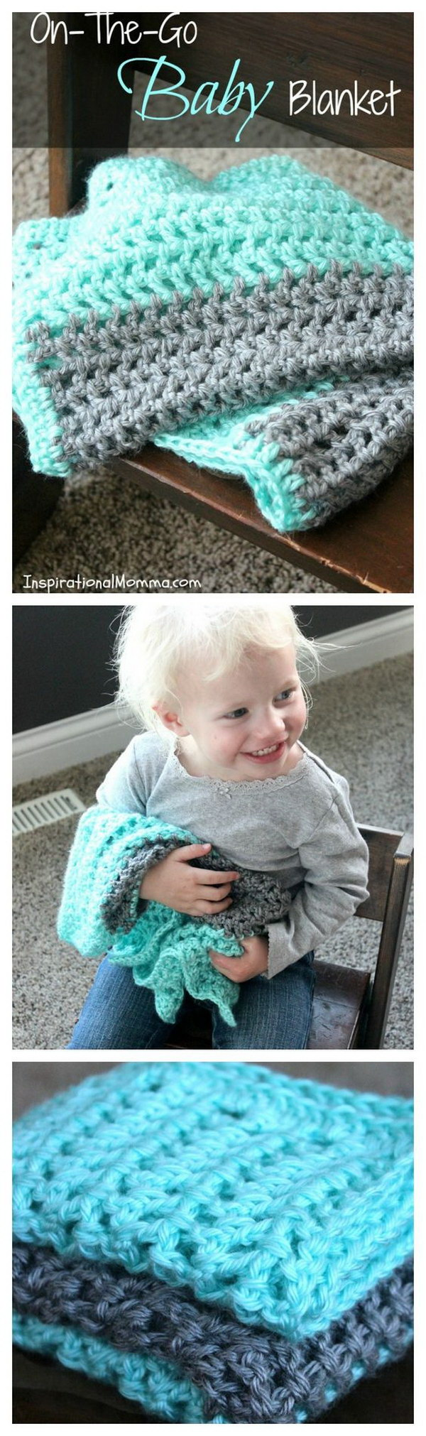 On-The-Go Crochet Baby Blanket.