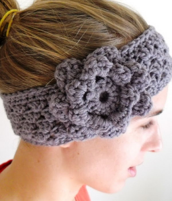 Crochet Ear-warmer. Beautiful ear warmers are incredibly popular right now!