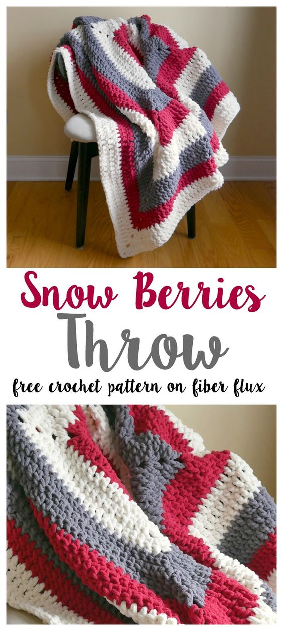 Snow Berries Throw Blanket.
