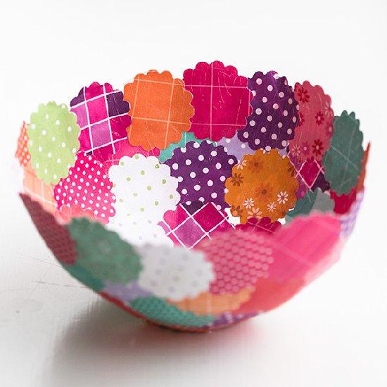 DIY Decorative Paper Bowls.