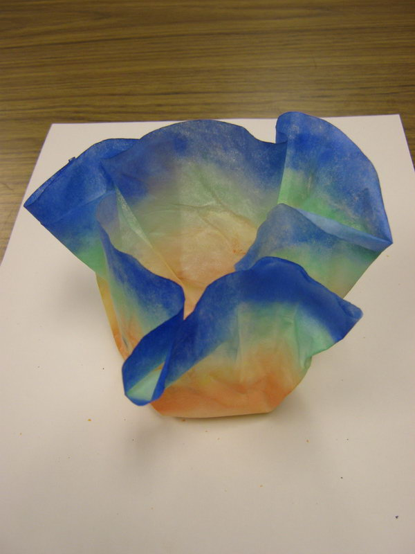Make Decorative Bowl out of Coffee Filters and Liquid Starch.