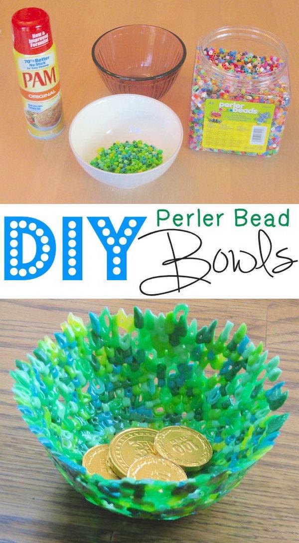 Perler Bead Bowls.