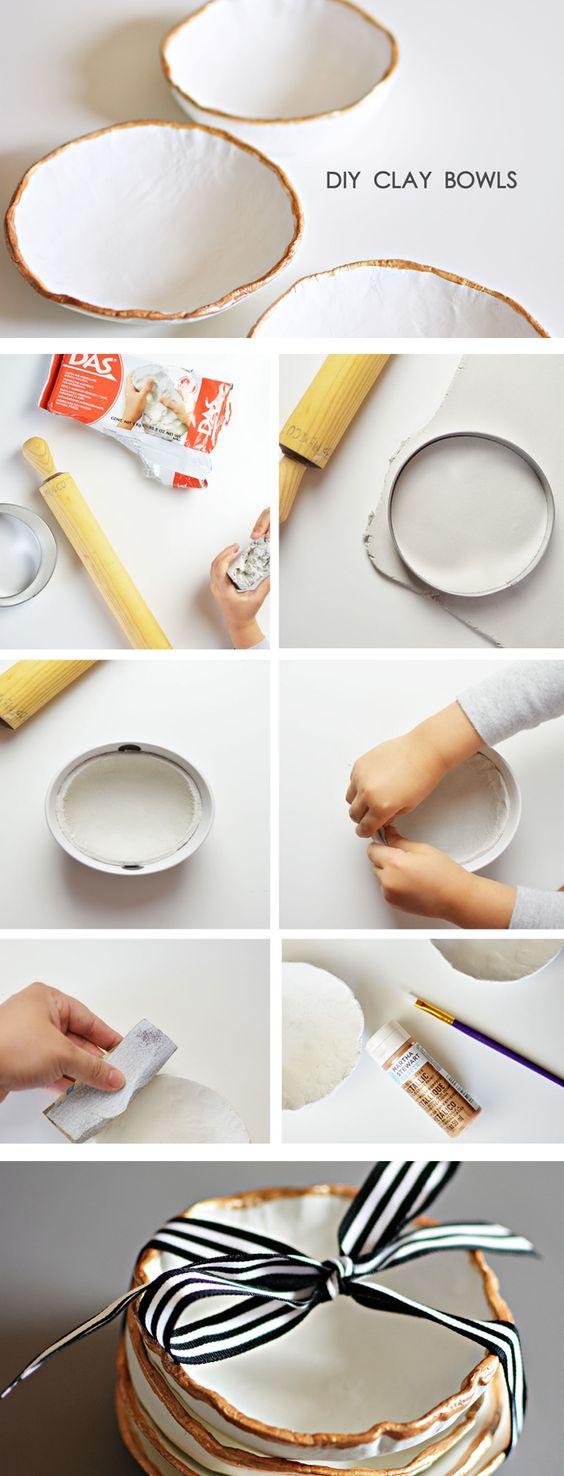 DIY Clay Bowls.