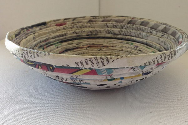 Recycled Newspaper Bowl.