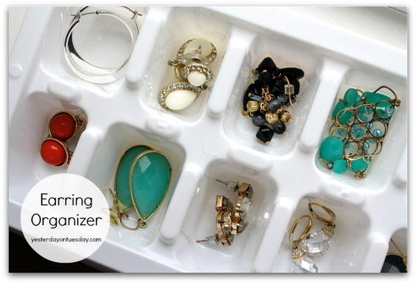 Ice Cube Tray To Earring Organizer.