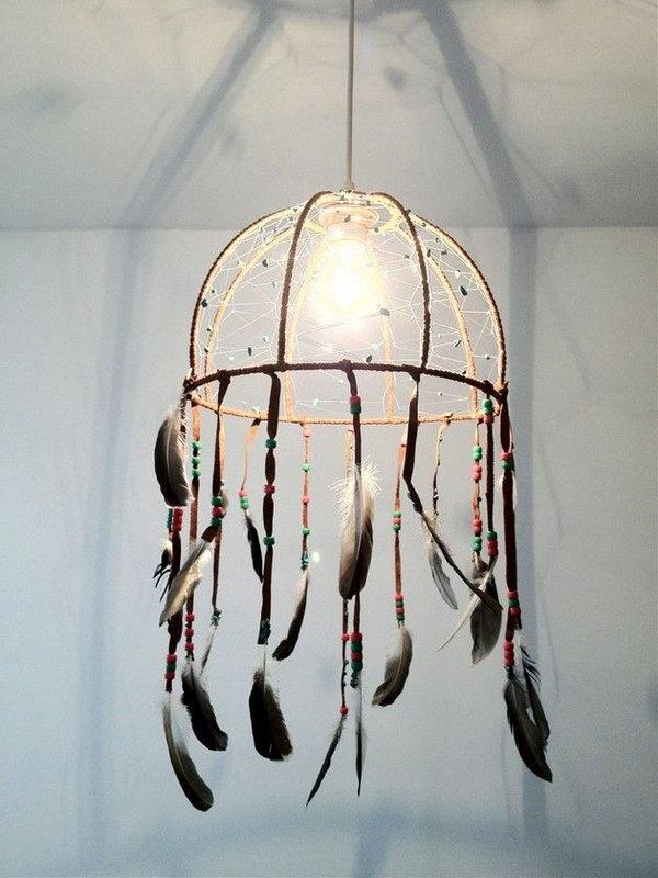 DIY Dream Catcher Lamp.