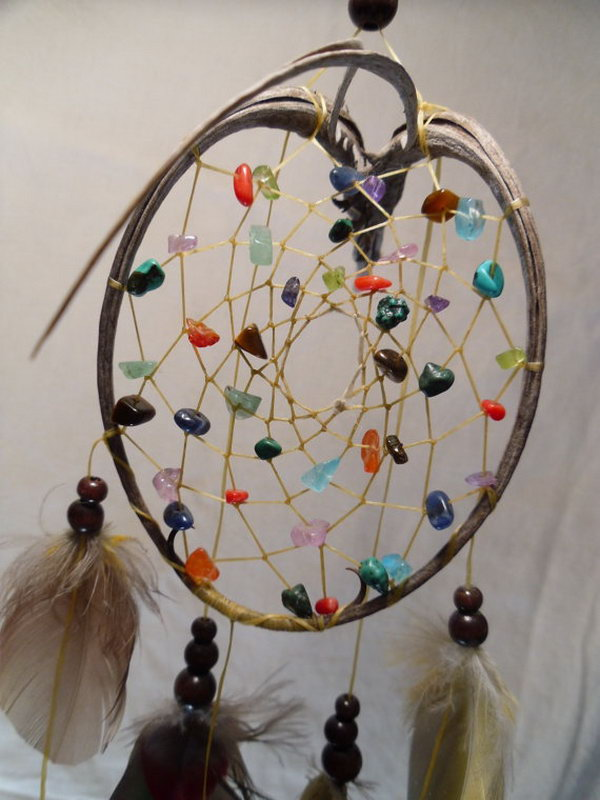 Colorful DIY Dream Catcher.