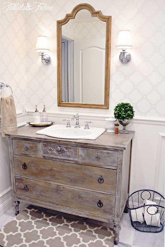 DIY Bathroom Vanity with Drawers for Storage.