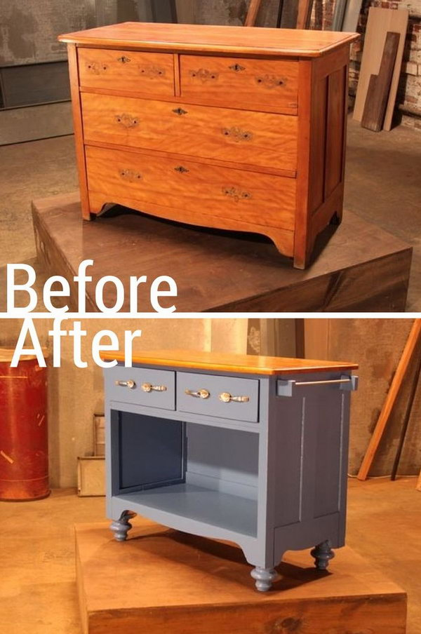 Genial Turn An Old Dresser Into Useful Kitchen Island