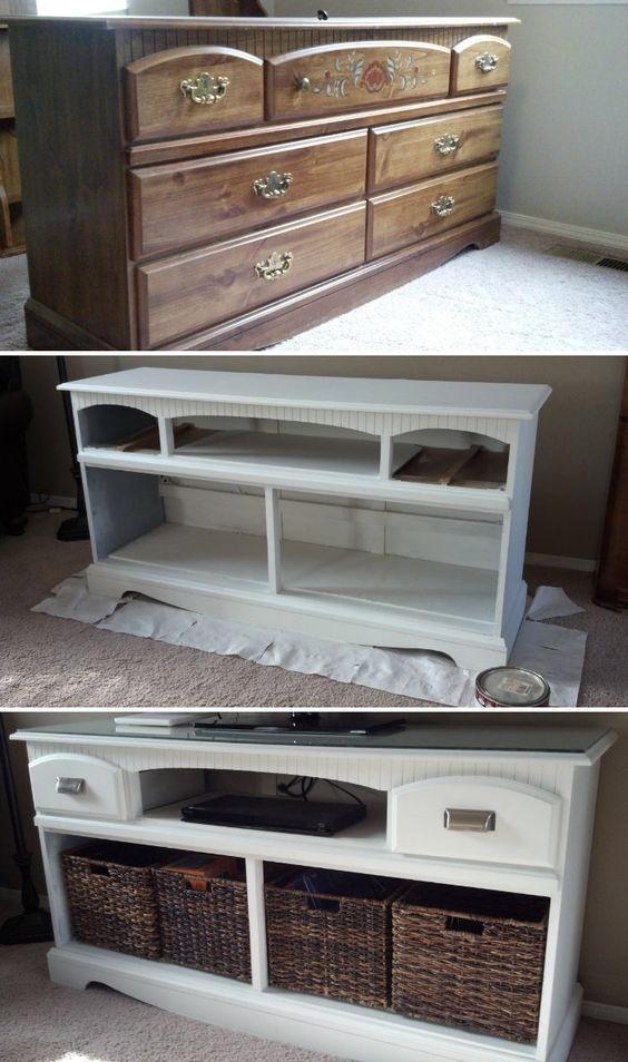Dresser Turned TV Stand Makeover.