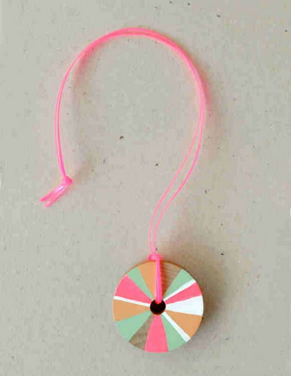 DIY Pinwheel Necklace for Girl