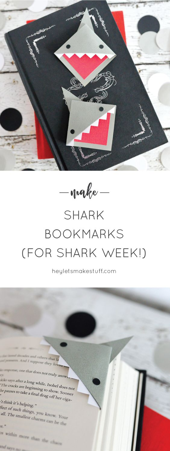 Corner Shark Bookmark.