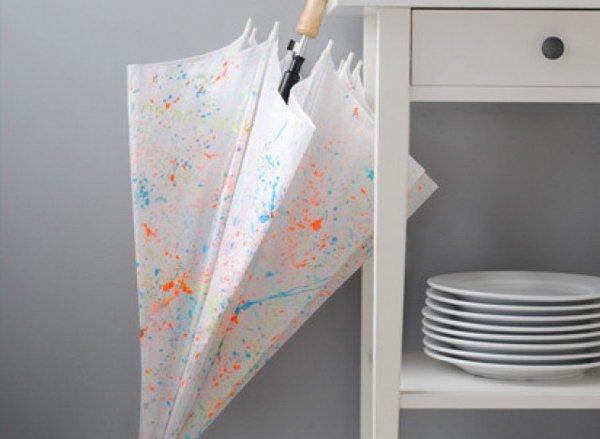 Paint-Splattered Umbrella