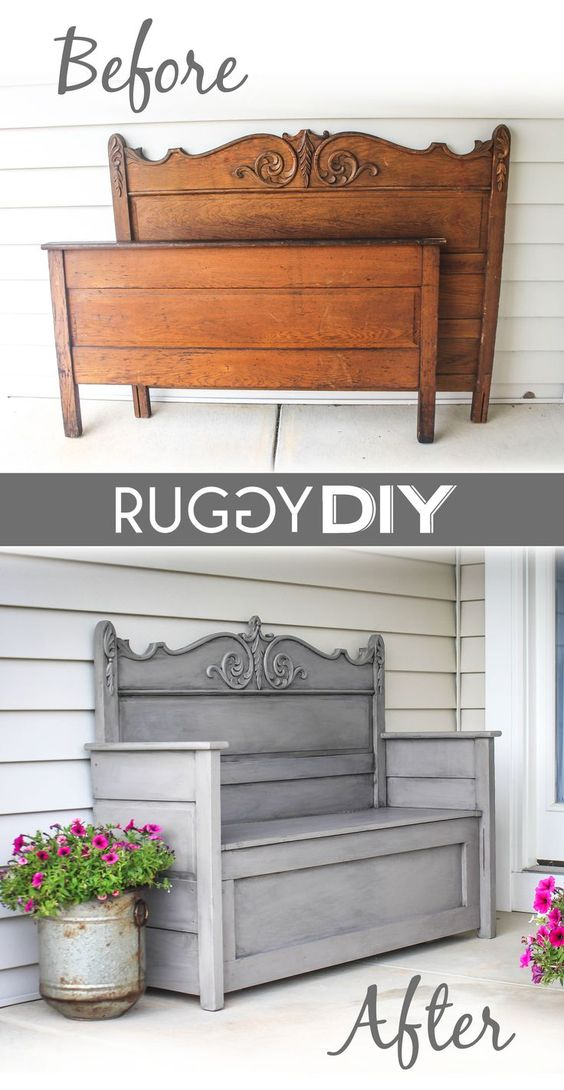 furniture repurpose ideas. Repurposed Headboard Bench Furniture Repurpose Ideas