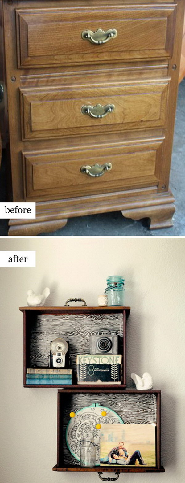 Unused Old Dresser Turned Bench.