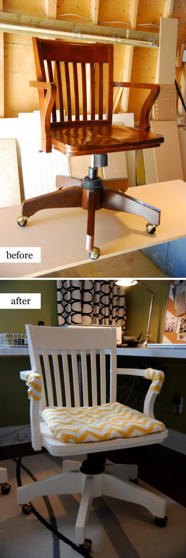 Easy Desk Chair Makeover.