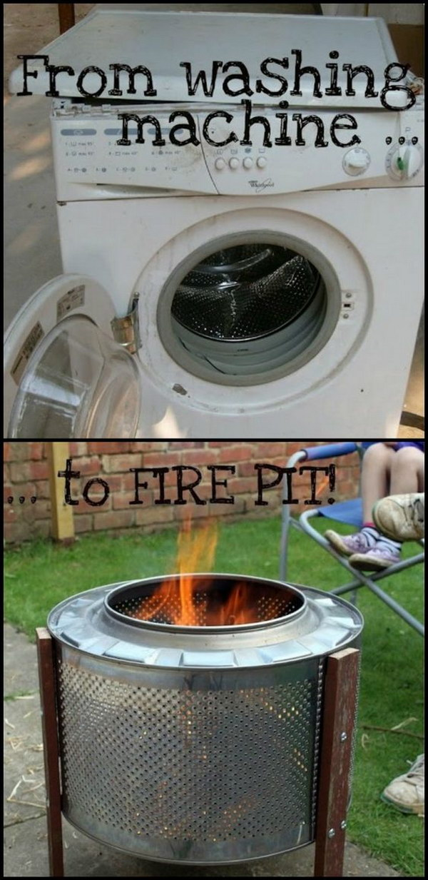 $10 DIY Washing Machine Drum Fire Pit.