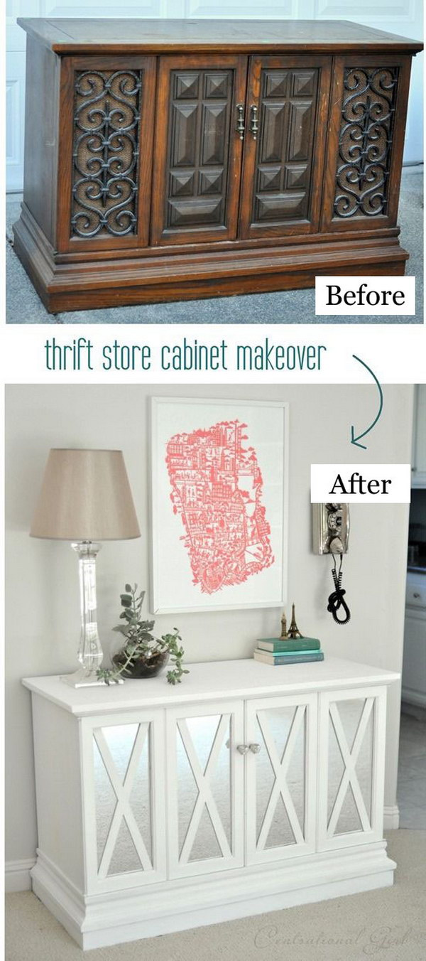 Thrift Store Cabinet Makeover.
