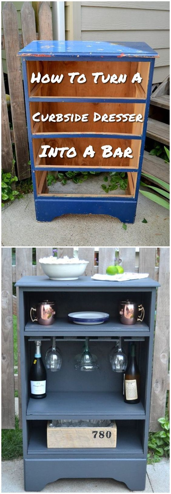 how to repurpose furniture. Turn A Curbside Dresser Into Bar How To Repurpose Furniture T