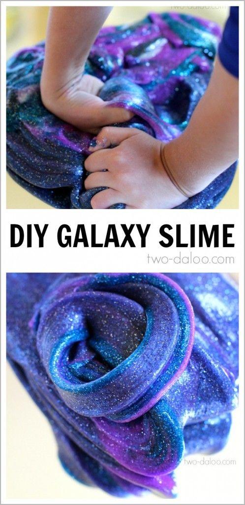DIY Galaxy Slime for Kids.
