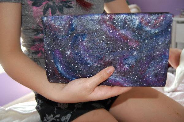 DIY Galaxy Hand Bag. Tutorial