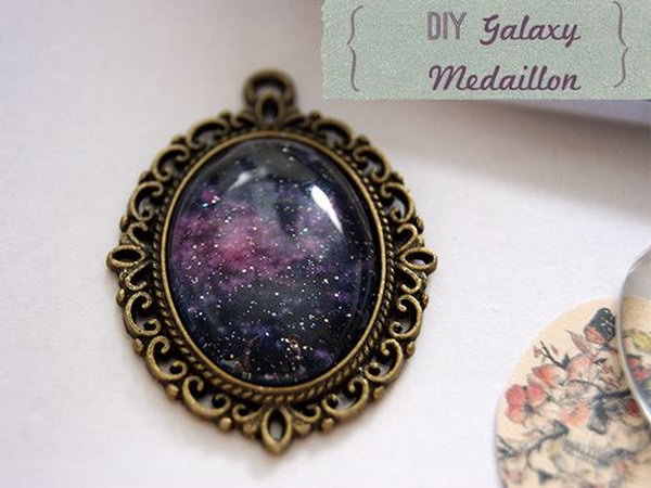 DIY Galaxy Pendant.  Need a beautiful pendant? Try this. Tutorial