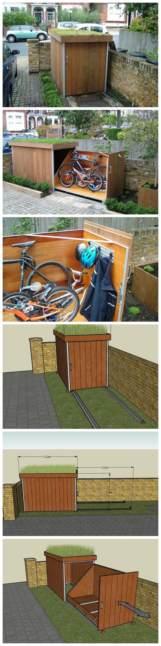 Super Simple Outdoor Bike Storage Solution.