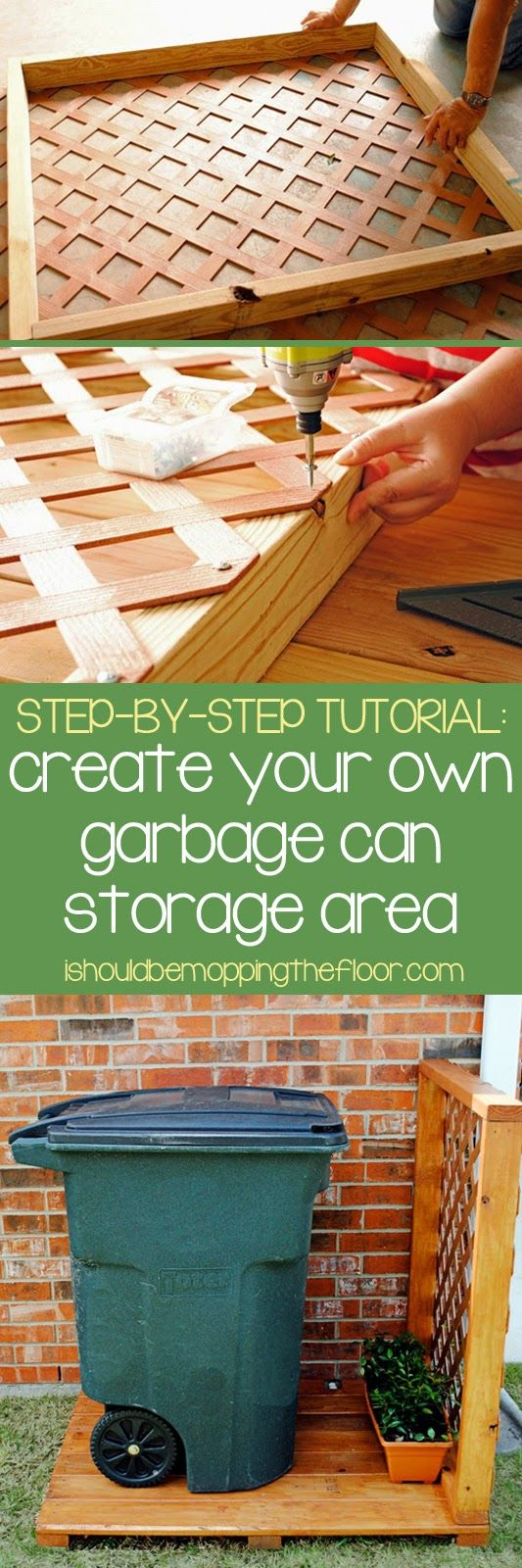 Create a Simple Garbage Can Storage Area.