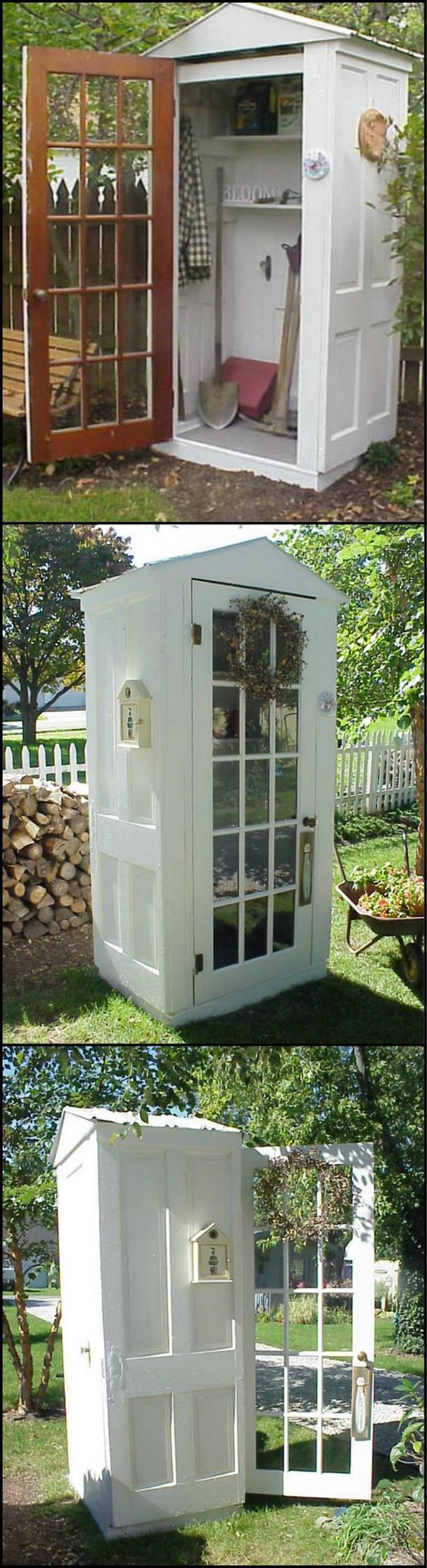 A Tool Shed Made from Repurposed Doors .